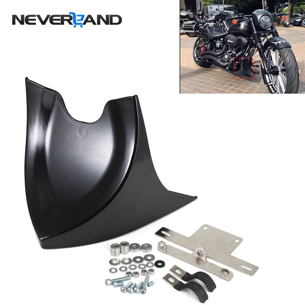 NEVERLAND Chin Lower Front Spoiler Air Dam Fairing Cover For Harley Sportster Dyna Fatboy Softail V-ROD Touring Glide D35