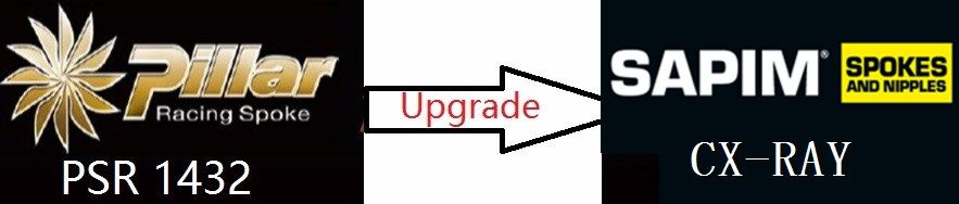 Cost for upgrade the spokes from Pillar 1432 to sapim CX-Ray