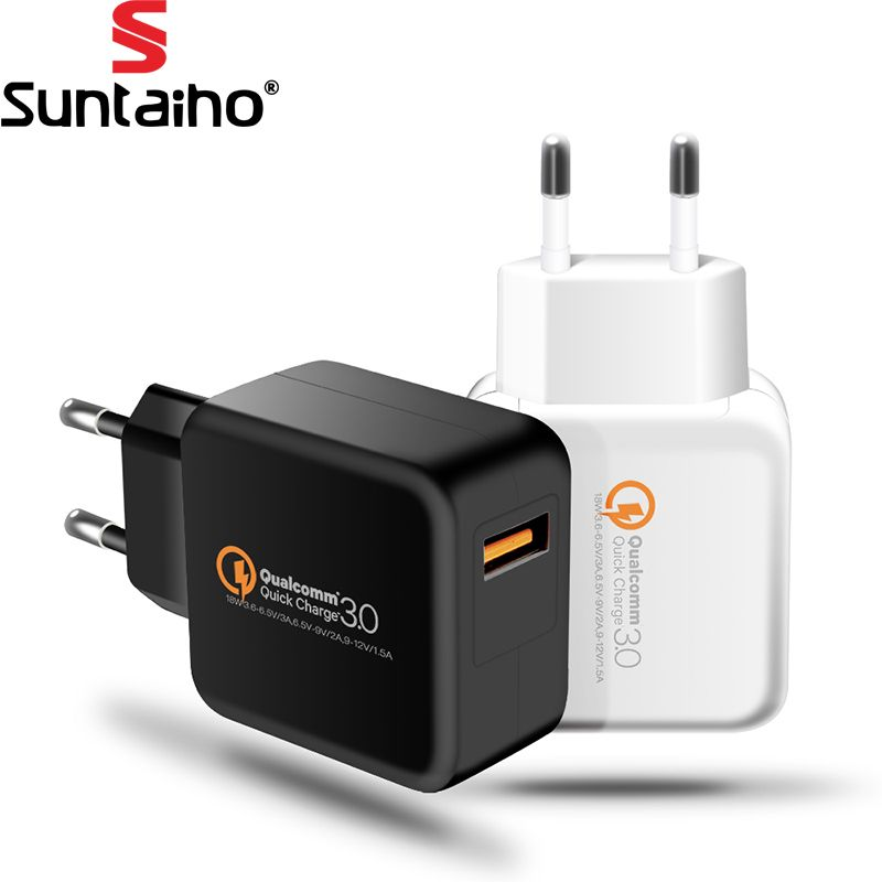 Suntaiho Qualcomm Quick Charge 3.0 USB Phone Charger Quick USB Charger Travel Wall Charger Adapter for iPhone/Samsung/Xiaomi