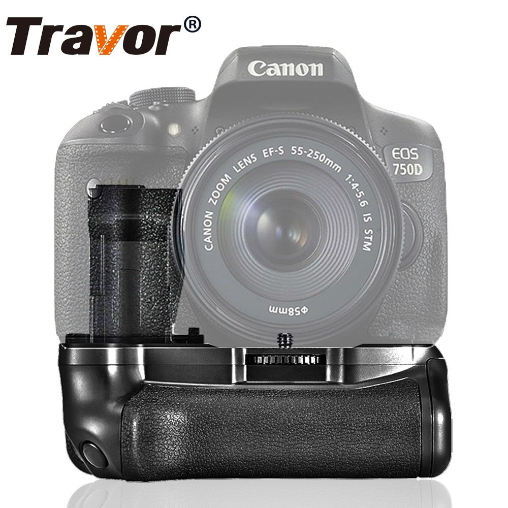 Travor vertical battery grip holder for Canon 750D 760D T6i T6s X8i 8000D DSLR Camera replacement BG-E18