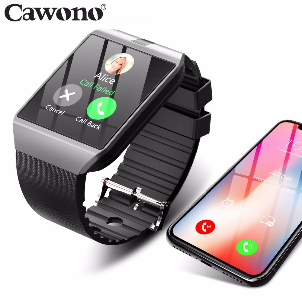 Bluetooth Smart Watch Smartwatch DZ09 <font><b>Android</b></font> Phone Call Relogio 2G GSM SIM TF Card Camera for iPhone Samsung HUAWEI PK GT08 A1