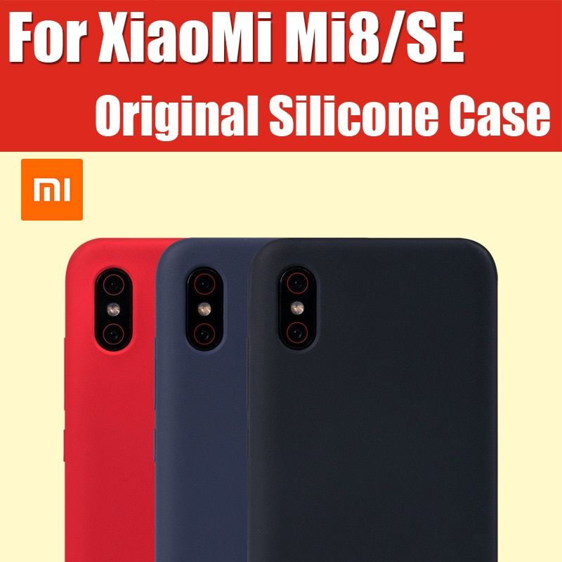 Mi8 Explorer Edition 100% official Xiaomi Mi8 Case Original Silicone Snapdragon 845/710 Mi8se Mi8 Screen Fingerprint Mi8 Pro