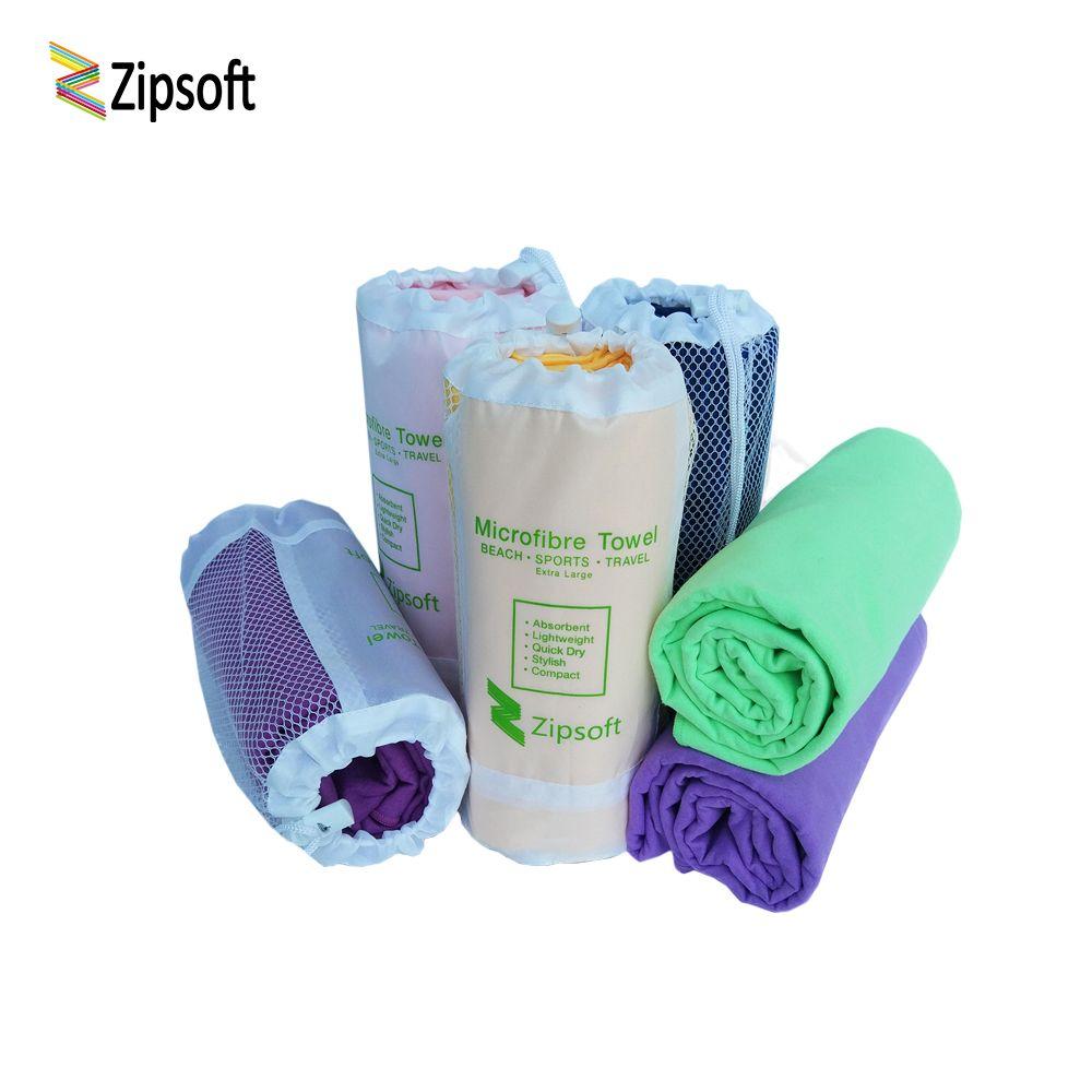 Zipsoft Microfiber Beach towel Mesh Bag Fabric Sports Quick Dry Bath Travel Hike Camp Gym Pool Yoga Mat Blanket swiming 2018 New