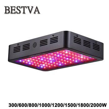 BestVA LED élèvent la lumière 300/600/800/1000/1200/1500/1800/2000 W Spectre complet pour Serre Intérieure grandir tente plantes poussent led lumière