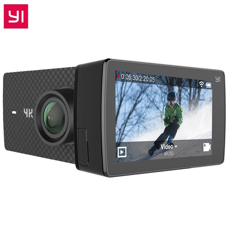 Internationale Ausgabe YI 4 Karat + Action Kamera Ambarella H2 4 Karat/60fps 12MP 155 Grad 2,19