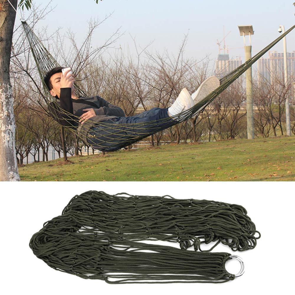 1 Stück schlafen hängematte hamaca hamac Tragbare Garten Outdoor Camping Reise möbel Mesh Hängematte schaukel Schlafsofa Nylon HangNet