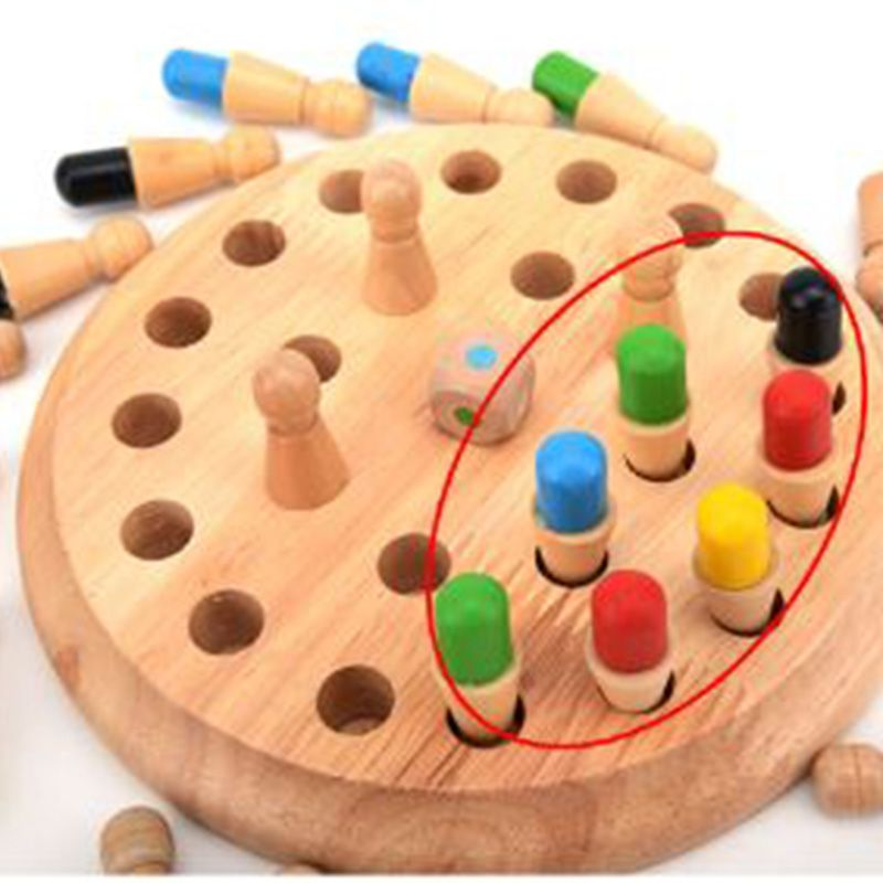Montessori Materials Wooden Toys for Children Memory Developing Compete Chess Learning Educational Preschool Training Kids Gift