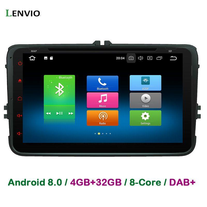Lenvio 4GB+32GB Octa Core 2 Din Universal Android 8.0 CAR DVD PLAYER For Universal Volkswagen VW GOLF 5 6 PASSAT CC T5 JETTA EOS