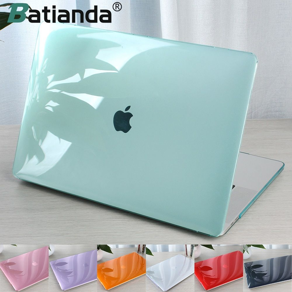 Crystal Transparent Hard Case Protect For Macbook Air Retina Pro 13 15 with/out Touch Bar A1706 A1707 A1990 AIR 13 2018 A1932