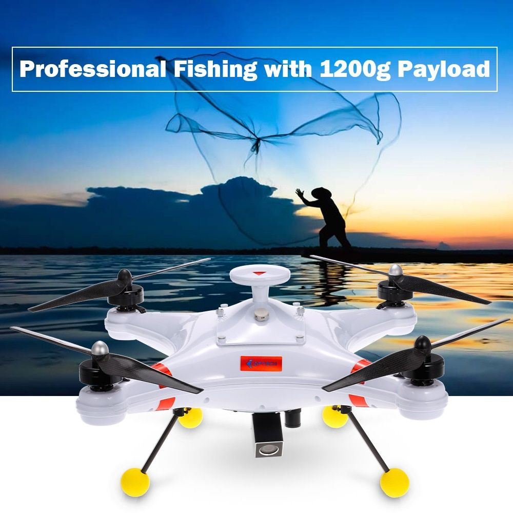 New Waterproof Professional Fishing Drone 700TVL Camera Helicopter Poseidon-480 Brushless 5.8G FPV GPS Quadcopter RTF
