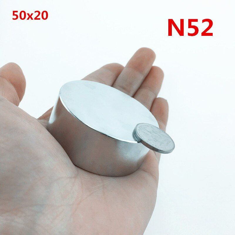1pcs N52 Neodymium magnet 50x20mm super strong round disc Rare earth powerful gallium metal magnets water meters speaker 50*20