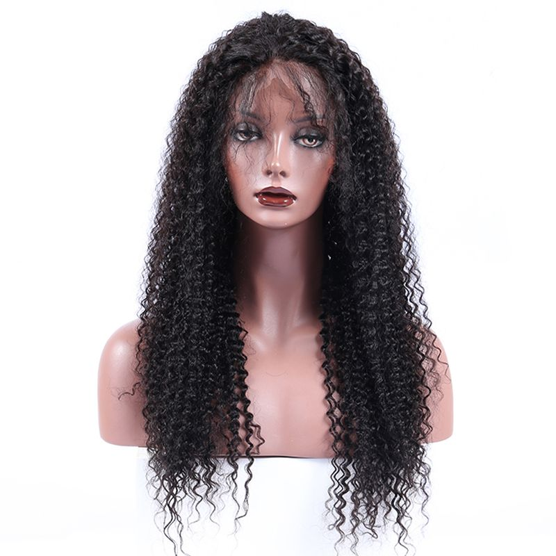 Kinky Curly Lace Front Human Hair Wigs 250% Density Brazilian Lace Front Wig For Women Remy Hair Preplucked Comingbuy
