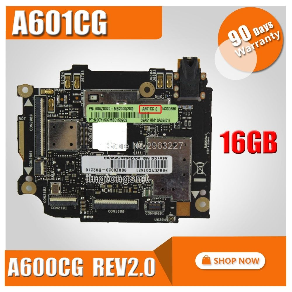 freeshipping! for ASUS ZenFone 6 A601CG motherboard A600CG REV2.0 16GB Rom 2GB RAM Logic Board Original mainboard