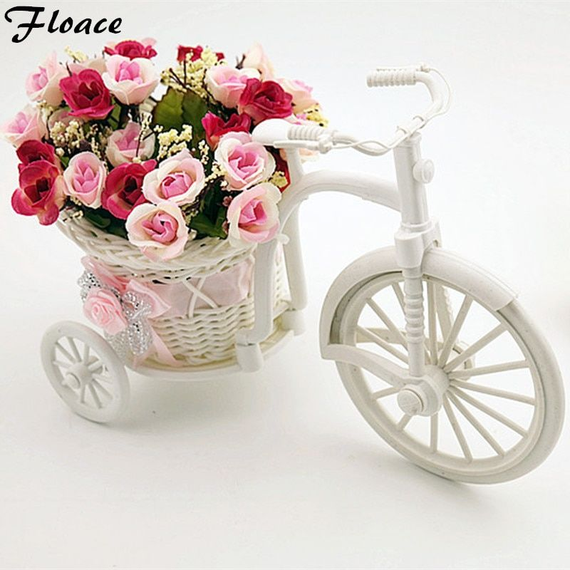Floace meubles amusant qualité rotin bandwagon mètres de vase orchidée diy fleur artificielle ensemble décoration de la maison-(fl140075)