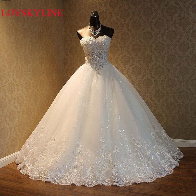 Real Photo 2017 High Quality Elegant Luxury Lace Wedding Dress 2017 Vestido Vintage Bandage Plus Size Ball Gowns