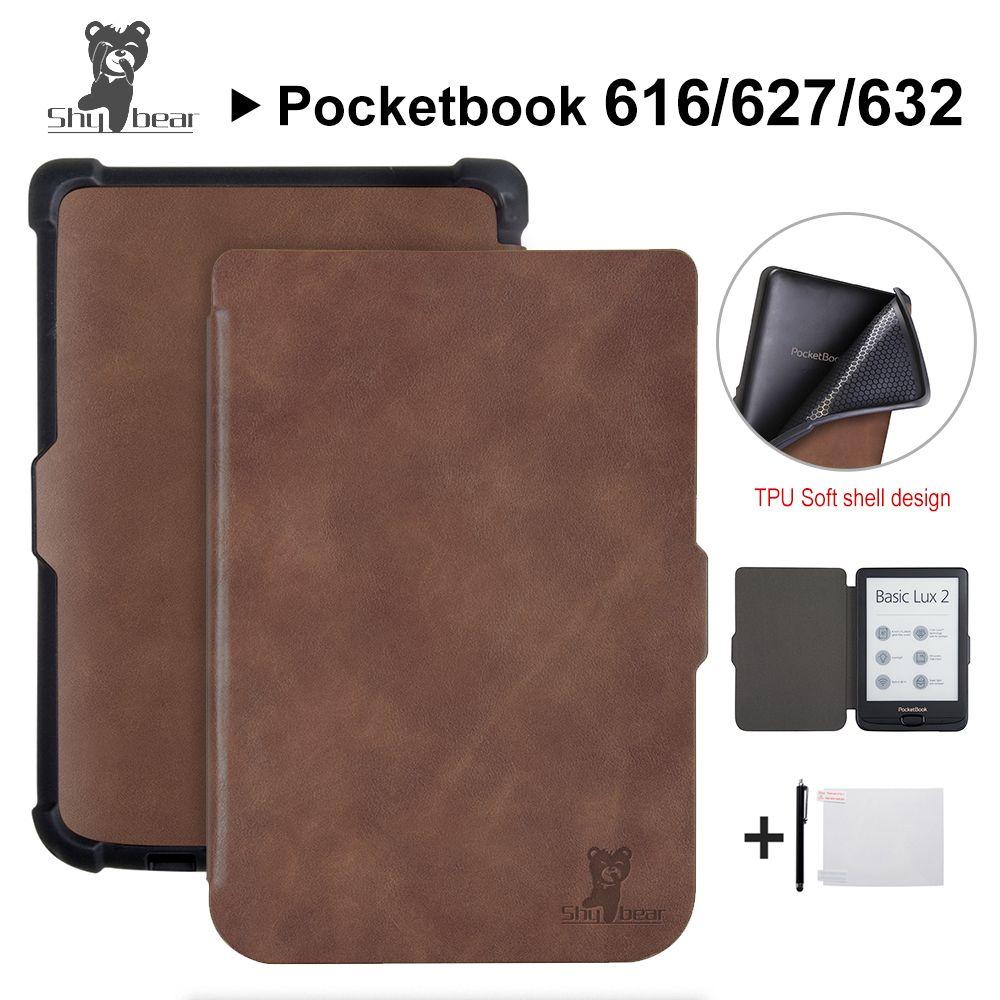 Smart case pour Pocketbook 616/627/632 6 ''Livre cas pour PocketbooBasic lux2 livre/tactile/ lux4 tactile hd 3 Cas de couverture + Cadeaux