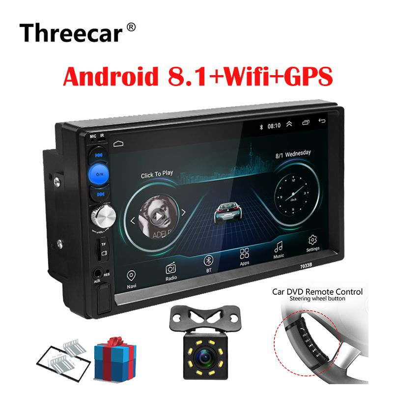 2 Din autoradio Android 8.0 universel GPS Navigation Bluetooth écran tactile Wifi voiture Audio stéréo FM USB voiture multimédia MP5