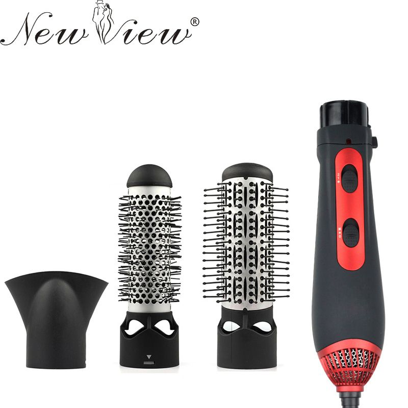 NewView Multifunctional Styling Tools Hairdryer Hair <font><b>Curling</b></font> Straightening Comb Brush Hair Dryer Professinal Salon 220V 1200W