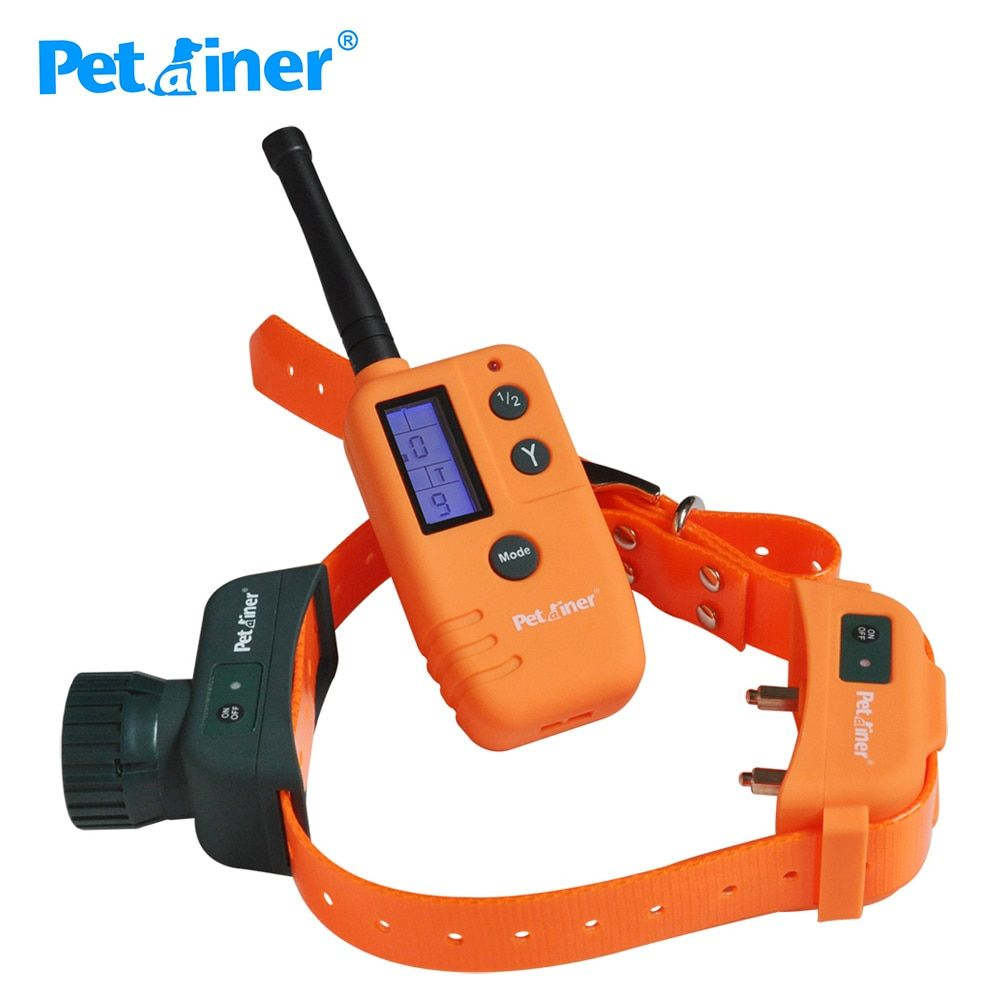 Petrainer 910 500M 9 Level LCD Display Remote Waterproof & Rechargeable Electric Pet Dog Training Products Shock Vibrate Collar