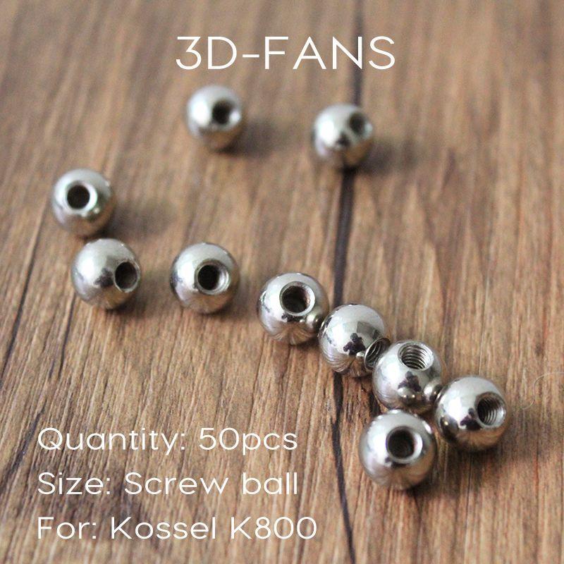 50pcs/lot 3D printer reprap Delta Kossel K800 Steel ball / reprap M4 dedicated drilling & Tapping Neck Finish ball