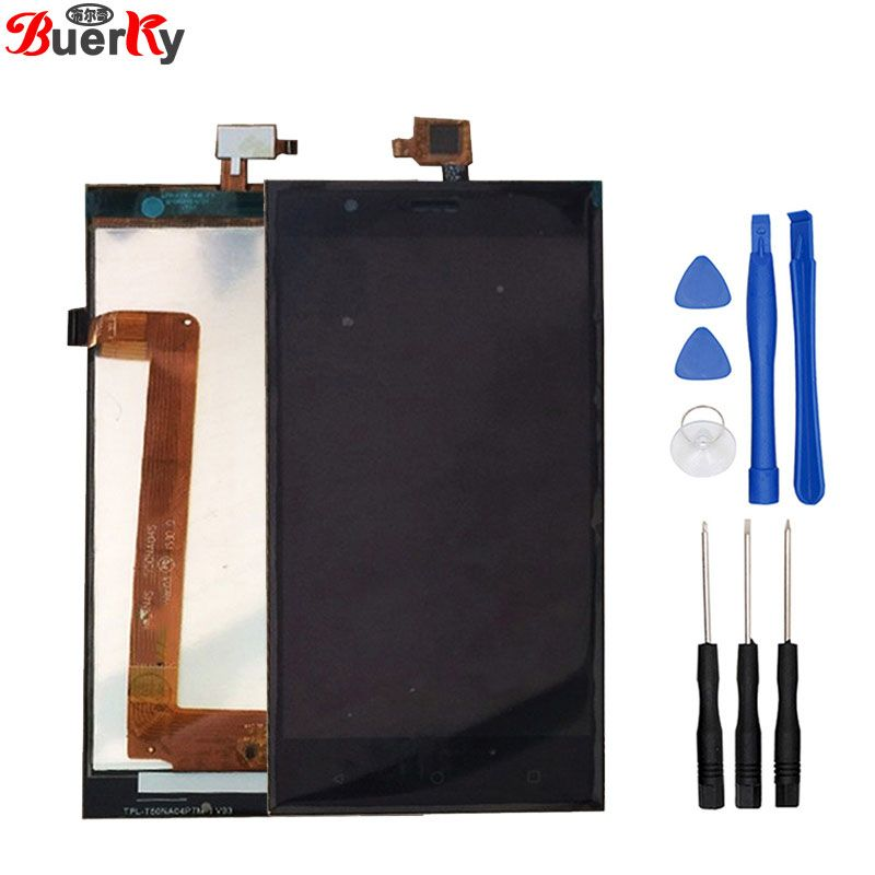 BKparts 1pcs For Highscreen Boost 3 pro Boost3 boost 3 se LCD Display touch screen+Tools glass complete assembly replacement