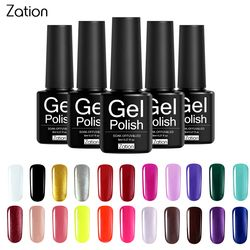 Zation Semi-permanent 29 Colors UV Gel Nail Polish Lacquer Semi Permanent Pure Color Nail Glue Soak Off Hybrid Gel Varnish