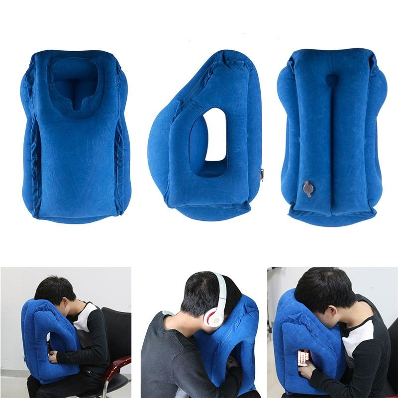 Travel pillow Inflatable pillows air soft cushion trip portable innovative products body back <font><b>support</b></font> Foldable blow neck pillow