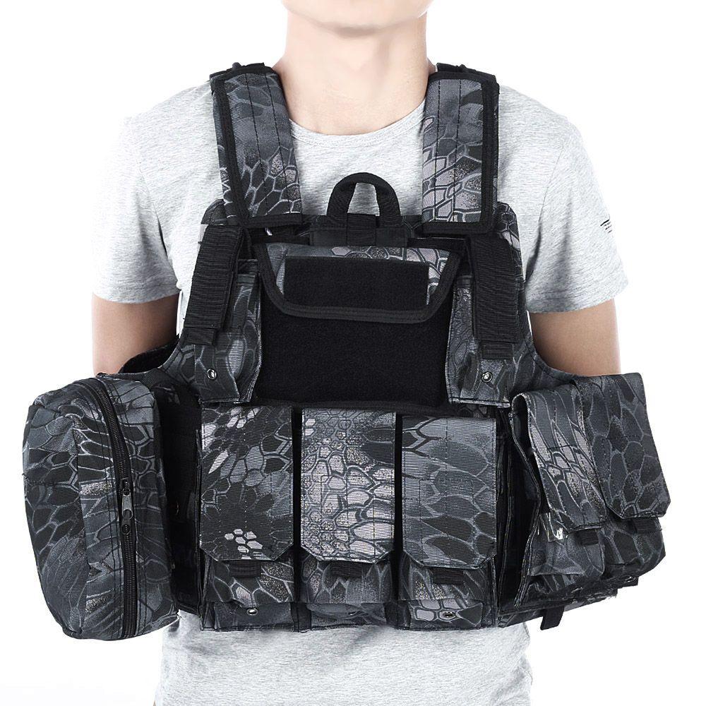 CS Taktische Jagd Weste Molle Military Weste Angriffs-platten-förder Weste Airsoft Paintball Kampfweste mit Magazintasche