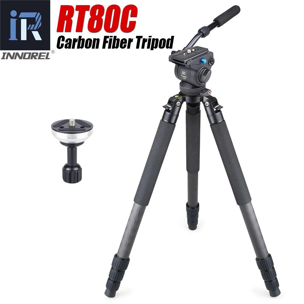 RT80C Berufs carbon stativ für DSLR kamera video camcorder Heavy duty vogelbeobachtung kamera stehen schüssel stativ 20 kg max