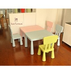 Children Furniture Study Desk and Chair Desk Square Table Game Table