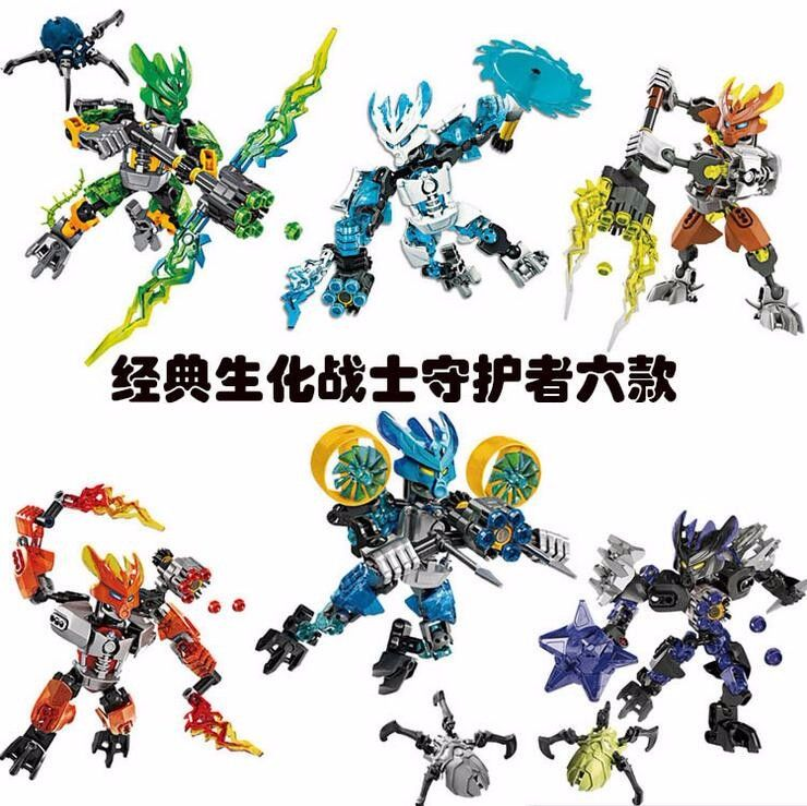 BIONICLE Series XSZ Jungle Rock Water Earth Ice Fire Protect Action Fiures Building Blocks Toys Compatible LegoINGlys brinquedos