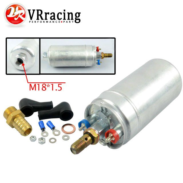 VR RACING - TOP QUALITY External Fuel Pump 044 OEM:0580 254 044 Poulor 300lph come with white pack VR-FPB044