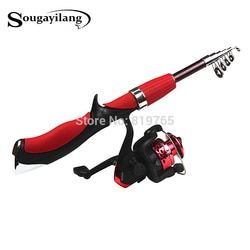 Sougayilang Carbon Fiber Rod Superhard Boat Fly Lure Fishing Rod With High Quality Fishing Reel Fishing Tackle