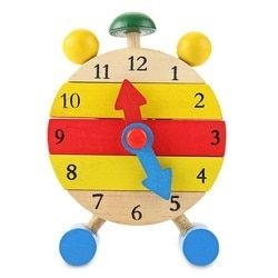 Mini Puzzle Clock Montessori Wooden Puzzles Toys Oyuncak For Children Digital Time Learning Education Educational Game Boys