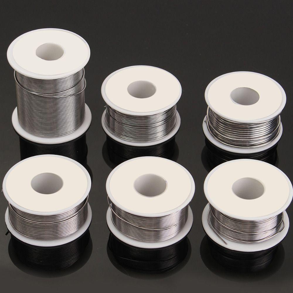 0.8/1/1.2 50g 100g Soldering Iron Solder Solder Wire 50g Soldering 63/37 Tin Lead Flux for Welder Iron Wire Reel