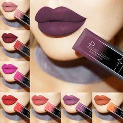 PUDAIER Waterproof Nude Matte Velvet Glossy Lip Gloss Lipstick Lip Balm Sexy Red Lip Tint 21 Colors Women Fashion Makeup Gift