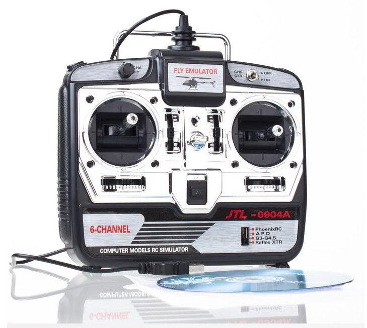 1 pièces 6CH RC simulateur JTL-0904A simulateur d'hélicoptère de vol réel avec disque CD dans la boîte de détail