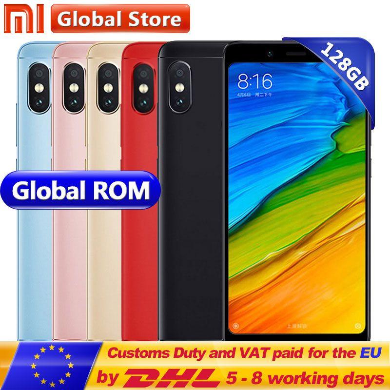 Original Xiaomi Redmi Note 5 6GB RAM 128GB ROM Snapdragon S636 Octa Core Mobile Phone 5.99 2160*1080 4000mAh 12.0+5.0MP