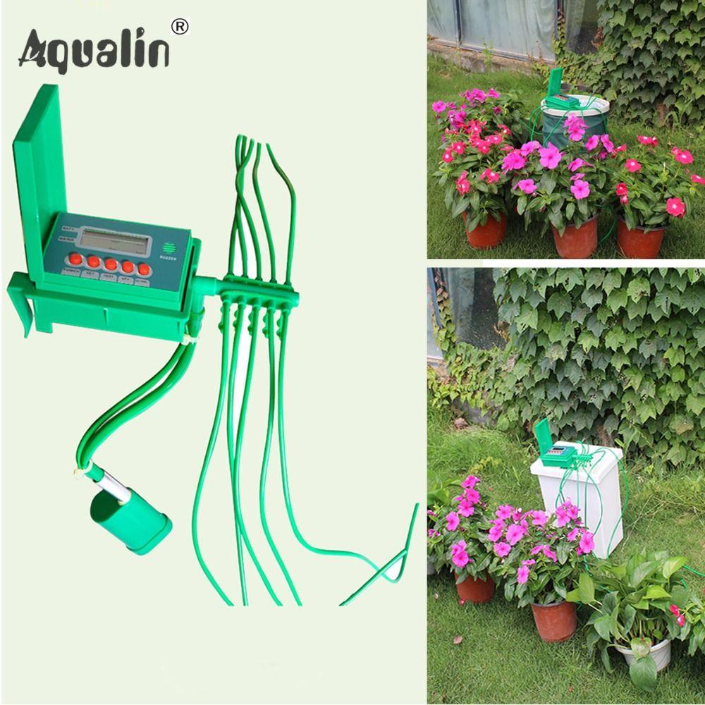 Automatique Micro Maison Irrigation Goutte À Goutte Arrosage Kits Système D'arrosage avec Contrôleur Intelligent pour Jardin, Bonsaï Intérieur Utiliser #22018