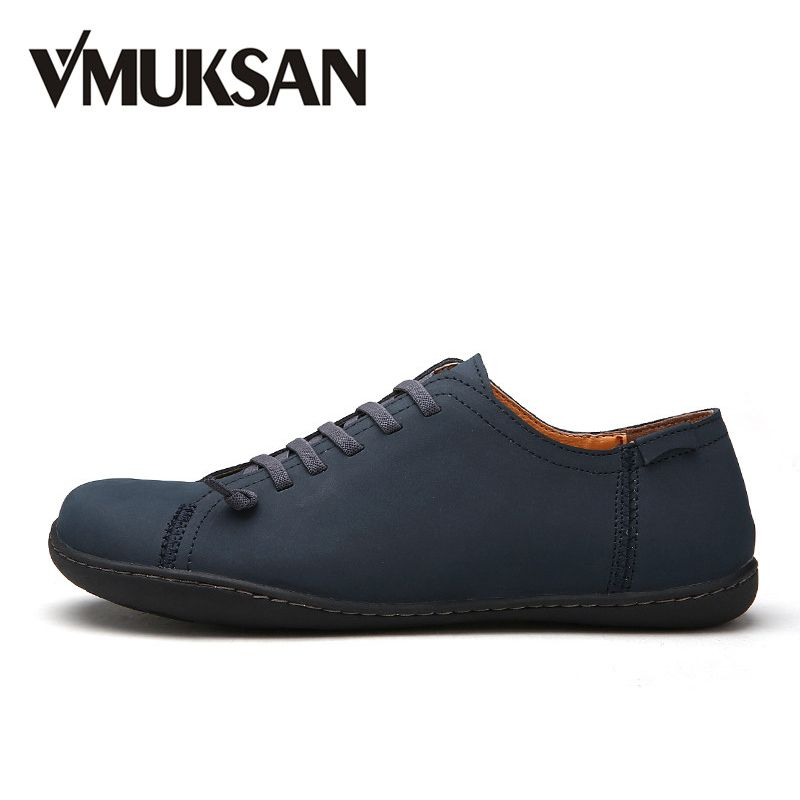 VMUKSAN New 2018 Mens Shoes Split Leather Men's Flats Handmade Mens Loafers Fashion Designer Slip On Espadrilles