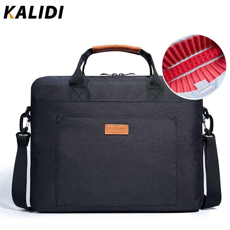 KALIDI Laptop Bag 13.3 15.6 17.3 Inch Waterproof Notebook Bag for Macbook Air Pro 13 15 Laptop Shoulder Handbag Briefcase Men