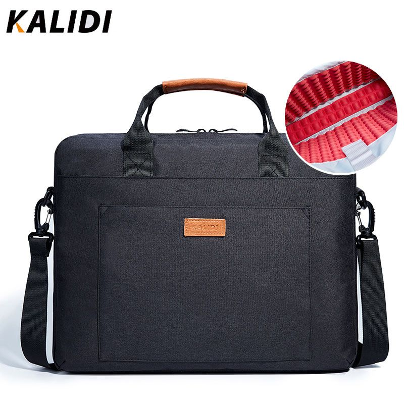 KALIDI Laptop Bag 15.6 17.3 Inch Waterproof Notebook Bag for Mackbook Air Pro 13 15 17 Laptop Shoulder Handbag 13 14 15 inch