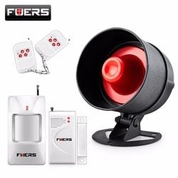 Fuers Alarm Siren Speaker Loudly Sound Alarm System Kits Wireless Home Alarm Siren Security Protection System for House Garage