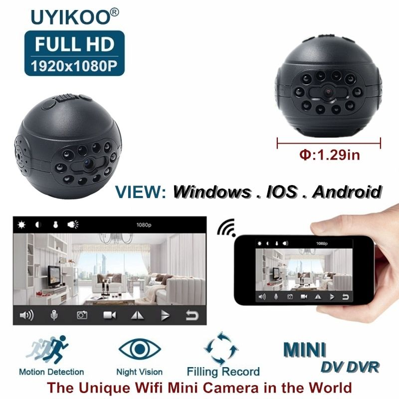 New Wireless Wifi Mini IP Camera HD 1080P DV DVR Secret Video Small Camcorder With Night Vision Motion Detection PK C1 SQ12 Cam