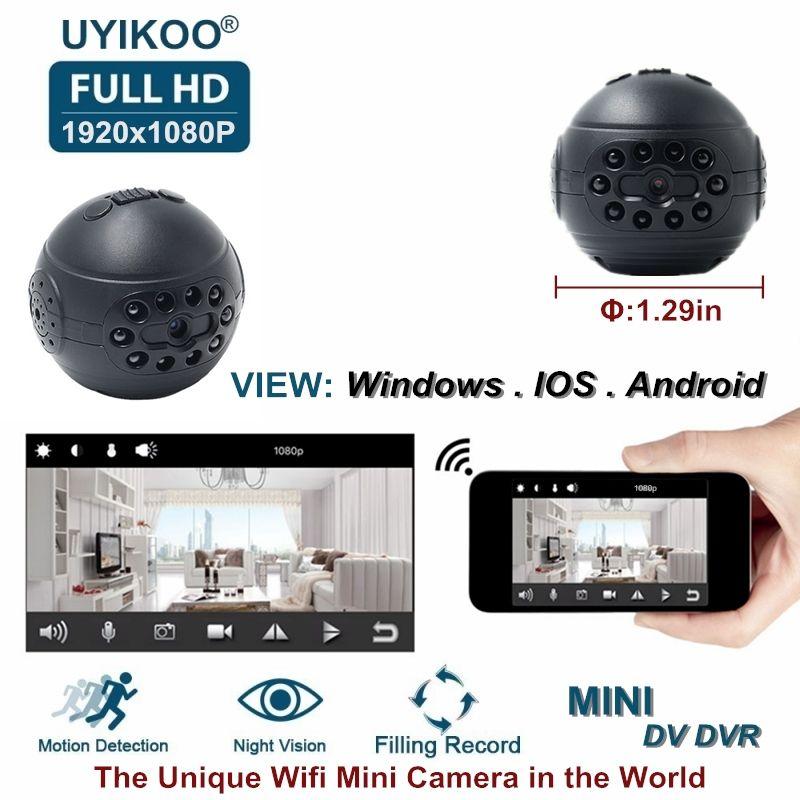 New Wireless Wifi Mini IP Camera HD 1080P DV DVR Secret Video Small Camcorder With Night Vision Motion Detection PK C1 SQ12 Cam
