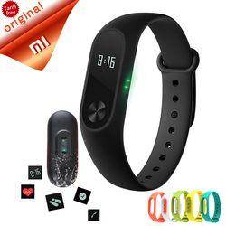 reloj inteligente xiaomi mi banda 2 pulsera inteligente de pulso del ritmo cardíaco miband xiaomi mi banda 2 con pantalla oled de 2 pulseras originales
