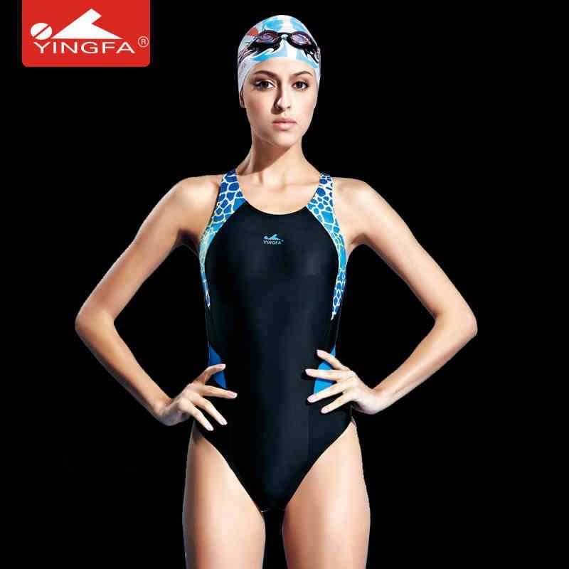 Yingfa compétition professionnelle sport une pièce triangle étanche maillots de bain femmes formation maillots de bain maillot de bain
