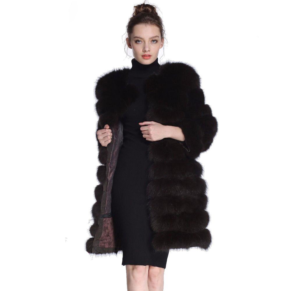 Natural Fox Fur coat real natural Women Winter Genuine natural Fox Fur coat with Fur vest girl Coat womens vests fox coats DHL