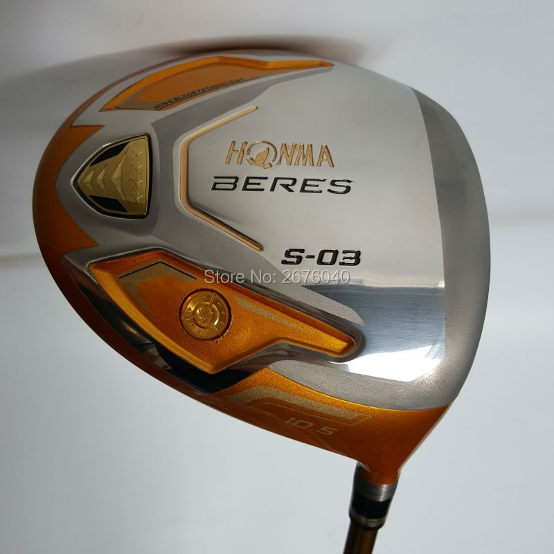 Golf clubs HONMA S-03 4 Star Gold color Golf driver 9.5or10.5 loft Graphite shaft R or S flex driver Clubs Free shipping