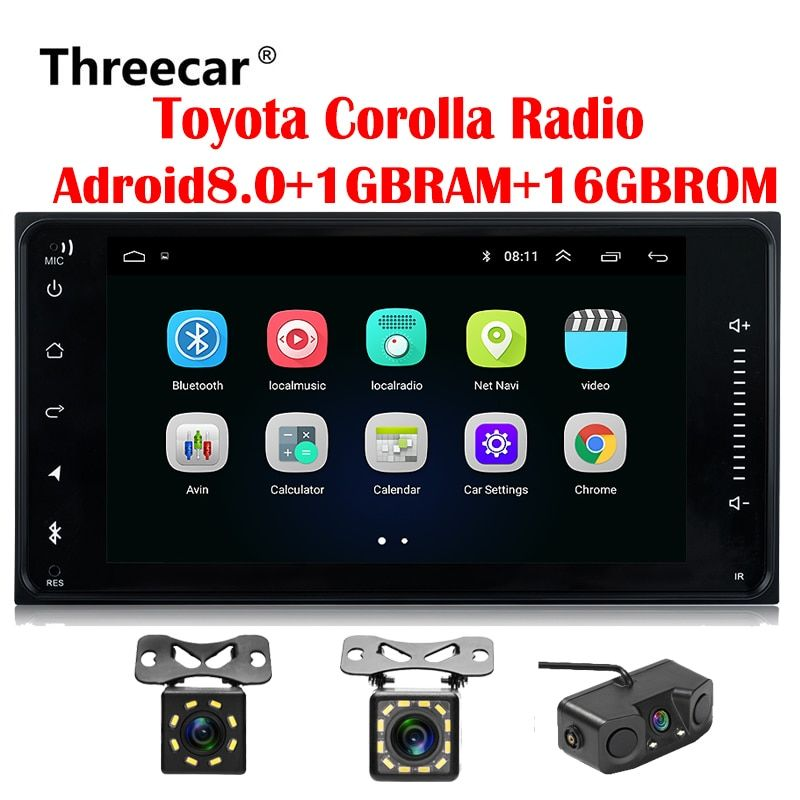 2 din Car radio Android GPS for Toyota Terios Old Corolla Camry Prado RAV4 Universal radio wifi Capacitive 7 inch DVD player